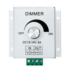 Aluminium Channel Knob Dimmer Controller 12V 8A for Single Color LED Strip Light