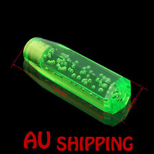 15cm Octagon Acrylic Crystal Air Bubble Manual Shift Knob shifter Green Fashion