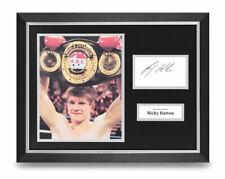 Ricky Hatton Signed 16x12 Framed Photo Display Boxing Autograph Memorabilia COA