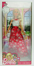 Christmas Barbie Holiday Doll 2016 Red/Silver Dress New in Box Collectors