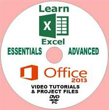MICROSOFT OFFICE 2013 EXCEL BEGINNERS& ADVANCED TRAINING VIDEO COURSE ON PC-DVD