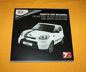 Kia Soul Black White 2011 Prospekt Brochure Depliant Catalog Folder