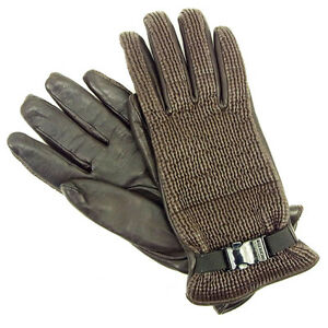 Moncler gloves Brown Woman Authentic Used Y6200