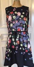 Ted Baker London Izobela Kensington Floral Shift Dress - Size 5 USA 12 Black