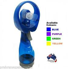 Portable Water Spray Fan Hand Misting Cooling Mist Battery Operated PVC