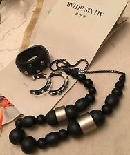 3 in one set by Alexis Bittar Huge Gorgeous Necklace,Bracelet and Earrings Set