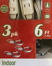 Westinghouse 6ft, Indoor Extension Cord (3pk - White)