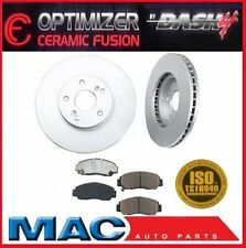 2009 2010  Acura TSX Front Brake Rotors & OPTIMIZER Ceramic Pads