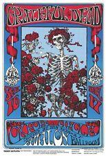 GRATEFUL DEAD - CLASSIC CONCERT POSTER - 24x36 SKELETON & ROSES 50457