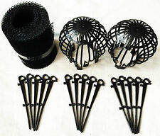 2 x DRAIN FILTERS - 6 metres GUTTER MESH with 15 FIXING HOOKS for gutter roof