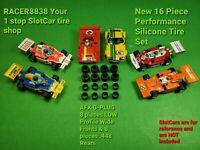 AFX G+ G-PLUS AURORA LOW profile FRONTS & REARS Upgrade Set 16 HO Slot Car tires