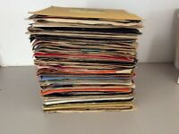 "80s 7"" Vinyl Records In Plain Sleeves x20"