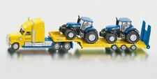 SIKU Super 1805 Truck With Two Holland Tractors 1 87 Scale