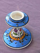 Turkish handmade ceramic candle holder or candlestick. Made in Turkey.