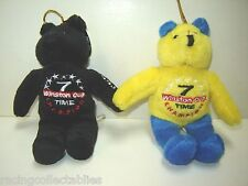 DALE EARNHARDT SR #3 T TIME WINSTON CUP CHAMP GOLD N TEDDY BEARS (2) FREE SHIP