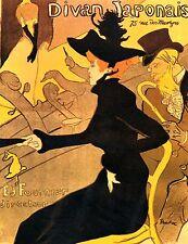 Divan Japonais par Toulouse Lautrec Giclée Impression Toile ou Beaux-Arts