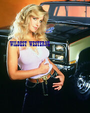 HEATHER THOMAS photo SEXY n BUSTY w/ muscle pickup truck RARE Fall Guy TIGHT TOP