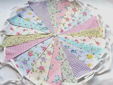 80 ft/24m. FLORAL BUNTING .WEDDINGS vintage shabby chic mixed 80gd