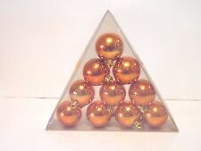 10 Orange Shiny 2 Inch Shatter Resistant Ornament Christmas Autumn Halloween