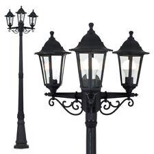 Minisun Outdoor Garden Lamp Post, Victorian Style, Black