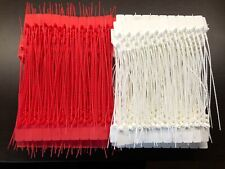 25-Fire Extinguisher Tamper Flag Seals + 10 Pull Pins -You Choose Red Or White