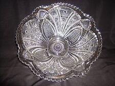 """Indiana USA Crystal Glass Paneled Daisy #123 Pattern Punch Bowl  12"""" x 4 3/4"""""""