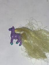 Vintage Galoob Cutie Club Colt Horse Collection Rare Animals Tiny Yellow Purple
