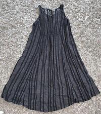 OLD NAVY Maternity Dress M Medium Black White Woven Sleeveless Clothes