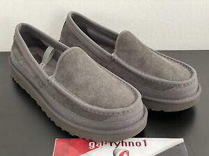 "UGG Australia DEX Slippers 1103901 ""Dark Grey"" Men's Size 10 Suede Slippers Loaf"