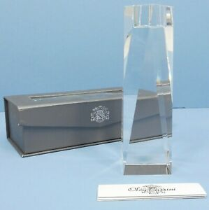 "OLEG CASSINI 6"" Brigitte Crystal Candlestick NEW CLEAR FACETS GIFT BOX #114641"