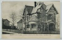 Carrolltown Pa Residence of DA Luther Jr Carroll and St. Mary's Sts Postcard N6