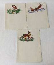 Walt Disney Bambi Vintage Bambi Paper For Greeting Thank You Cards WDP  (R14-3)