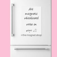 Magnetic Whiteboard Plain A4 Dry Wipe Flexible Memo Notice Fridge Planner Magnet