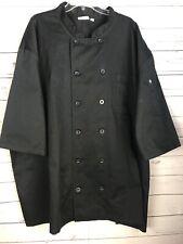 Chef Works Black Chef Waiter Coat Jacket Size 5Xl