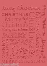 Craft Concepts Embossing Folder - Merry Christmas CR900050