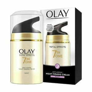 Olay Night Cream Total Effects 7 in 1, Anti-Ageing Moisturiser, 50g