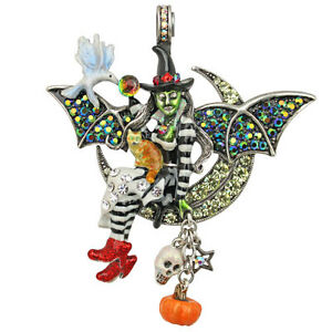 KIRKS FOLLY WITCHCRAFT FAIRY GREEN WITCH MAGNETIC ENHANCER SILVERTONE HALLOWEEN