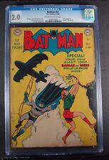 Batman #57 Golden Age CGC 2.0 Joker Appearance Centerfold 1950 Calendar
