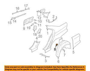 BMW OEM 08-14 X6 Quarter Panel-Wheel Fender Liner Nut 16131176747