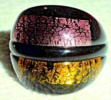 """Murano Glass Domed Shaped Ring-9.8g- 1"""" Wide-Size 7"""