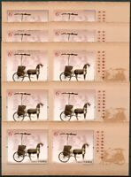 10x China PRC 2020-7 Block Philatelie Kulturerbe Kongreß Pferdewagen MNH