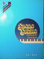 SUONO SUBITO di Franco Bignotto Volume 9 lezioni 33-34-35-36 Ricordi 1983