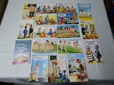 Job Lot 17 Vintage Seaside Humour Comic Postcards all unused (L8)