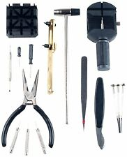 16 Pc Watch Repair Tool Kit Removes Battery Bands Links Case Opener BLACK