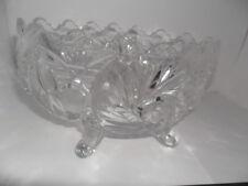 An Elegant Vintage Crystal/Cut Ruffle-Edged Glass Sweet-Meat/Pot-Pourri Bowl