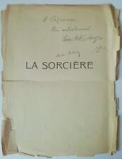 compositeur Camille Erlanger signature autographe André Sardou M. Cazeneuve