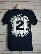 New York Yankees DEREK JETER Captain Clutch T-shirt Size M Blue Majestic MLB