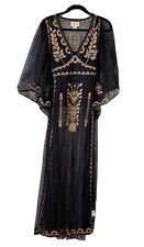 NWT $245 RALPH LAUREN Denim And Supply M Mesh Embroidered Maxi Dress Black Gold