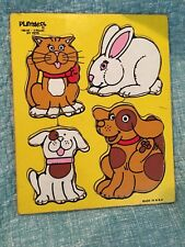 Playskool Family Pets Wood Tray Puzzle