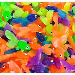 144 Vinyl Goldfish Bulk Toy Play Vending Carnival Prize Game